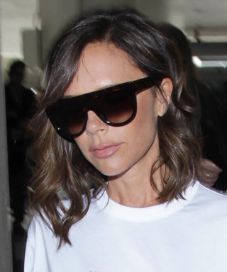 Victoria Beckham Celebrates Her Birthday in a Very Trendy Logo T-Shirt