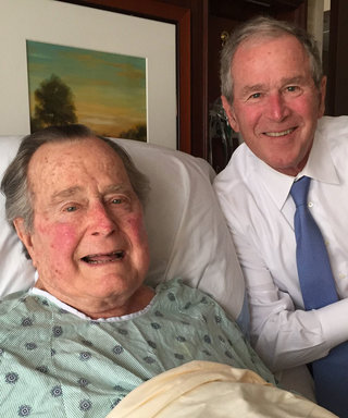"George H.W. Bush Gets ""Big Morale Boost"" Thanks to Son's Hospital Visit"