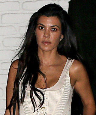 Kourtney Kardashian Flawlessly Pulls Off Head-to-Toe White for L.A. Night Out