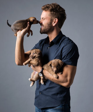 Bachelor Star Nick Viall Playing with Puppies Will Make Your Monday