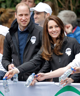 See This Marathon Runner Squirt Water at Prince William's Face