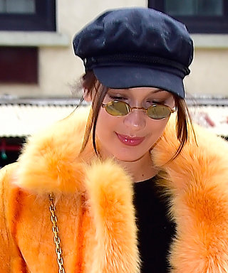 We Can't Stop Staring at Bella Hadid's Orange Fur Coat