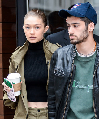 Gigi Hadid & Zayn Malik Coordinate in Green While Holding Hands in N.Y.C.