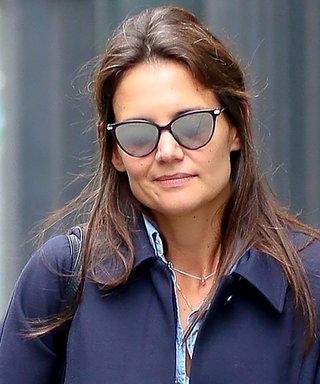 Katie Holmes Stomps the Sidewalk in Dreamy Shades of Blue