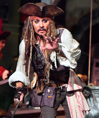 Johnny Depp Surprises Disney Guests Dressed as Captain Jack Sparrow