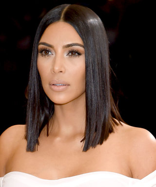 2001 Called... This Might Be Kim Kardashian's Sleekest Hairstyle of All Time
