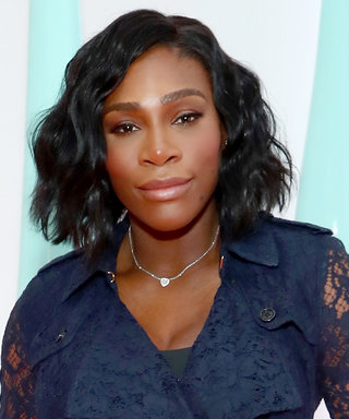 Serena Williams Is Owning This Pregnancy in an Elegant Navy Lace Look
