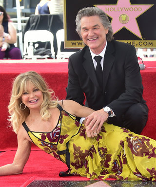 Goldie Hawn & Kurt Russell Kiss While Getting Dual Stars on Walk of Fame