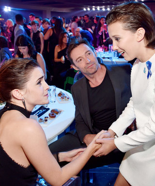 Emma Watson and Millie Bobby Brown Met Last Night, and It Was Adorable