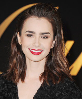 Lily Collins To All Of Us: Sometimes All You Need Is A Red Lip & An LBD