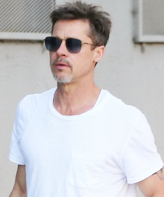 Brad Pitt Makes a Simple White Tee HOT While Leaving His Art Studio