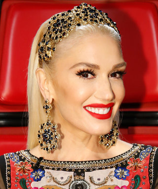 Gwen Stefani Wears a Bridal Gown While Teasing Big News