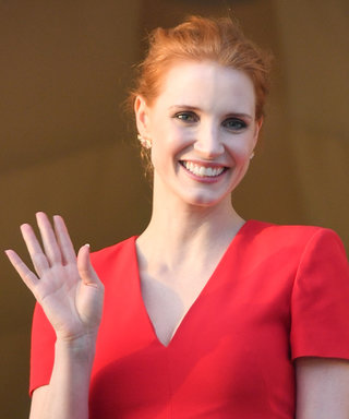 Jessica Chastain Kicks Off Cannes in Red Hot Alexander McQueen Dress