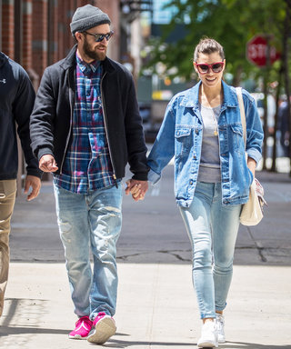 Justin Timberlake Rocks Pink Sneakers While Holding Hands with Jessica Biel