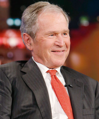 George W. Bush Photobombed a Reporter at a Baseball Game and the Internet Is Flipping Out