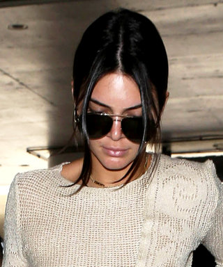 Kendall Jenner Goes Braless in a Sheer Crochet Look