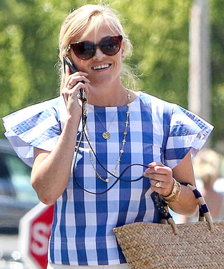 Reese Witherspoon Is a Beach Day Personified in Summery Gingham Top