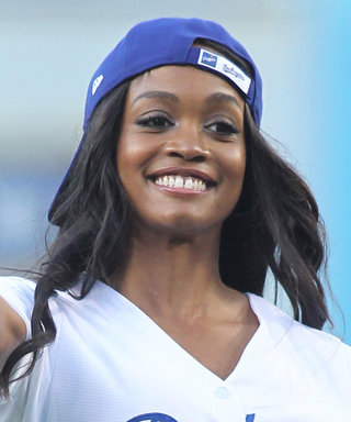Bachelorette Rachel Lindsay Filled in for the Pitcher at the Dodgers Game