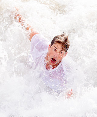 9 HilariousPhotos of Celebs Getting Crushed by Waves