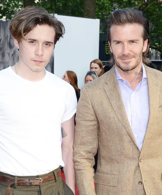 David & Brooklyn Beckham's Father-Son Style Heats Up King Arthur Premiere