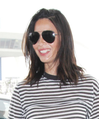 Olivia Munn Flaunts Her Rock Hard Abs in a Striped Crop Top