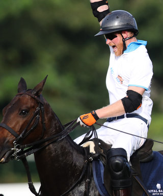 Prince Harry Had the Time of His Life Playing Polo for Charity