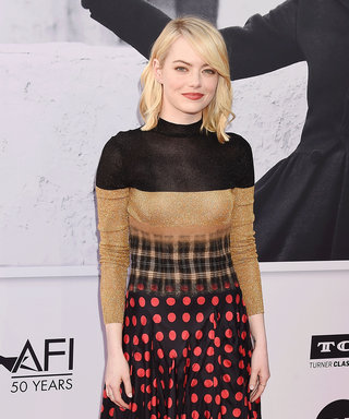 You Have to See Emma Stone's Blurry (Yes, Blurry) Dress