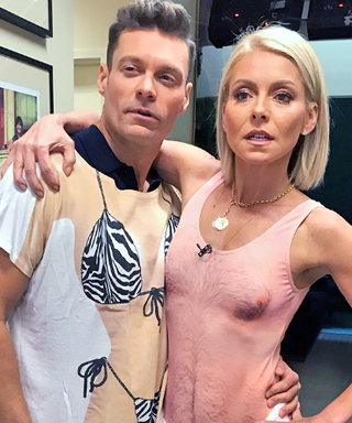 Oh Yes She Did! Kelly Ripa Models THAT Hairy Chest Swimsuit