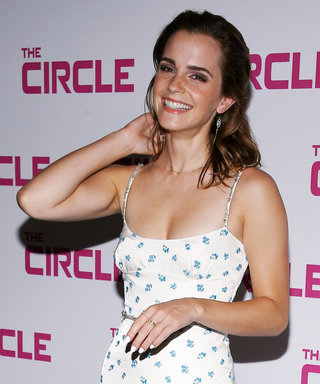 Emma Watson Looks Gorgeous in a Dramatic Floral Gown at The Circle Premiere in Paris