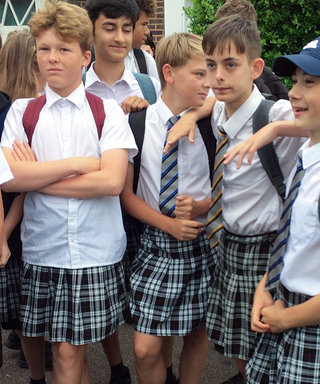 "Teenage Boys Wore Skirts to Protest School's ""No Shorts"" Policy During a Heat Wave"