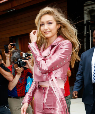Gigi Hadid Looks Like a Human Barbie Doll Headed to a Disco