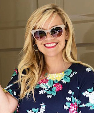 Reese Witherspoon Is a Picnic Personified in This Hydrangea-Print Dress