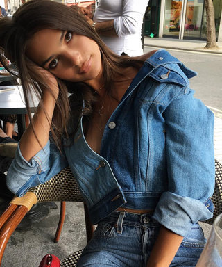 Emily Ratajkowski's Jean Jacket Top Is Held Together by 1 Button