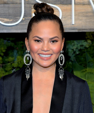 Chrissy Teigen Tries Aerial Yoga for One of Her First Post-Baby Workouts