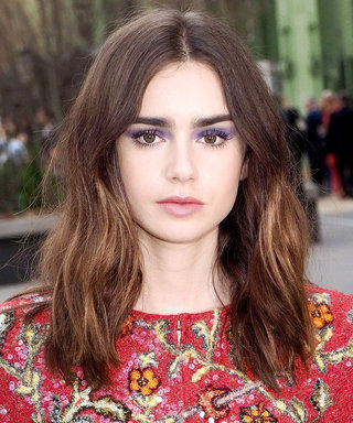 Daily Beauty Buzz: Lily Collins's Violet Eyeshadow