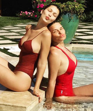 11 Times Celebrities Fully Embraced Mommy-and-Me Swimwear