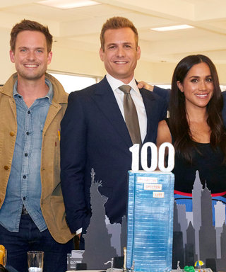 Meghan Markle Celebrates the 100th Episode of Suits in a Colorful Maxiskirt