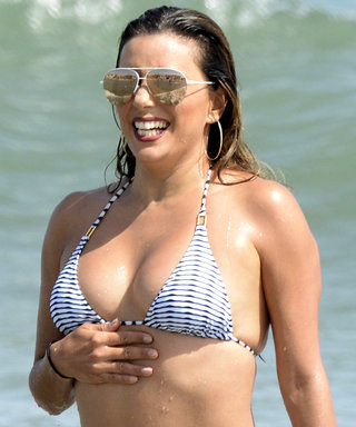 Eva Longoria Flaunts Her Curves in a String Bikini While Vacationing in Spain