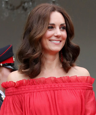 Kate Middleton Stuns in Trendy Red Gown at Garden Party Honoring Queen Elizabeth in Germany