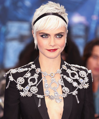 We're Living for Cara Delevingne's Ultra-Mod Valerian Press Tour Style Streak