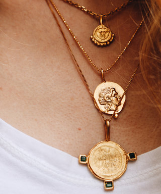 We're Totally Coveting Coin Necklaces