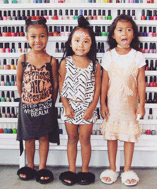 North West and Her Girlfriends Hit the Town for Mani-Pedis