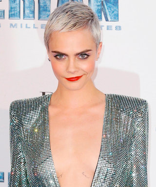 Cara Delevingne Is a Glittering Goddess at Valerian's Paris Premiere