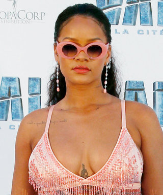 Rihanna Wore a Pink Embellished Bra to Valerian's Paris Premiere Because Fashion