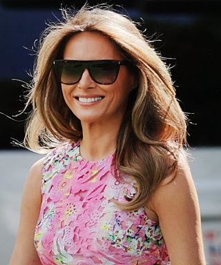 Melania Trump Resurfaces in a Colorful Frock from Monique Lhuillier