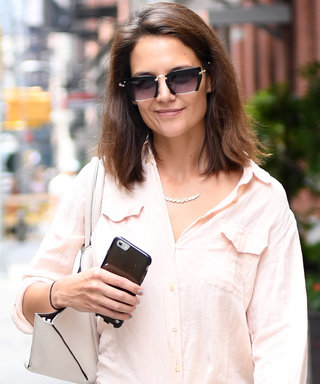 Katie Holmes Rocks Paint-Splatter Jeans in N.Y.C.