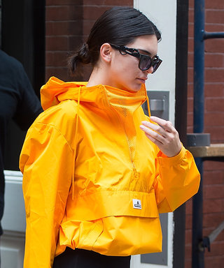Kendall Jenner Stops Traffic in a Bright Yellow Windbreaker