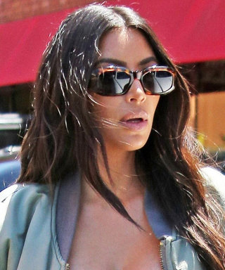 Kim Kardashian West's New Favorite Trend Is Wearing a Bra as a Shirt