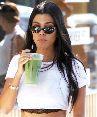 Kourtney Kardashian Takes After Sister Kim K. in an Ab-Baring White Crop Top