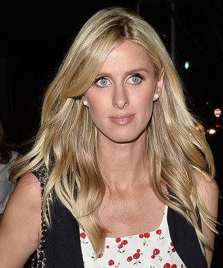 Pregnant Nicky Hilton Wears a Playful Cherry-Print Dress for a Night Out